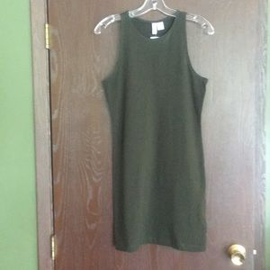 H&M green tank dress size medium